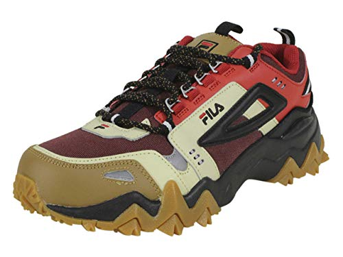 Fila Men's Oakmont TR Trail Sneaker (13, Tan/Red/Black)