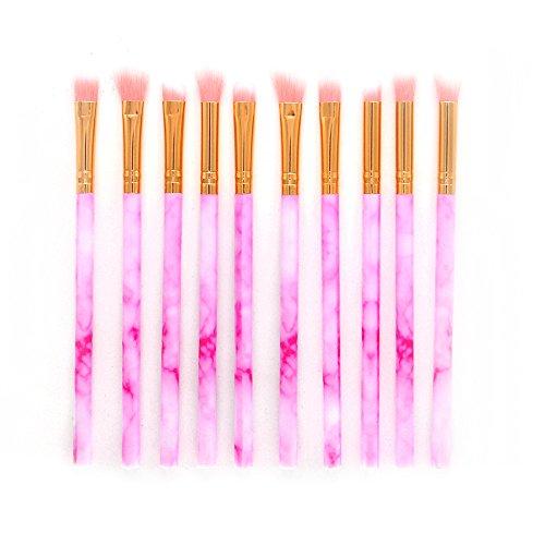 IFOUNDYOU Make Up Pinsel 10-Tlgs Schmink Pinselset Etui Schmink Kosmetik Lidschatten Gesichtspinsel Augenpinsel