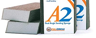 A2 Dual Angle Fine Grit Abrasive Drywall Sponges - 100 Ct. Contractor Pack