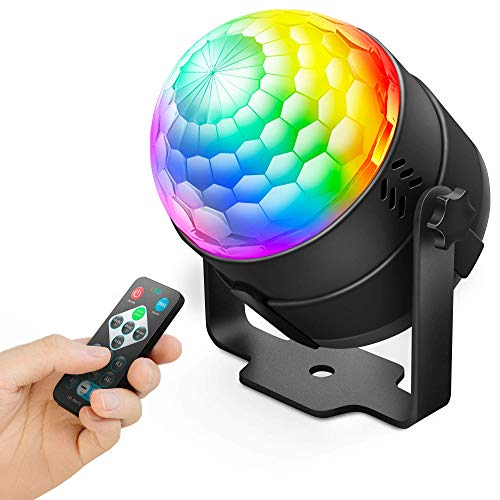 NEQUARE Party Light DJ Disco Ball Disco Light 7 Colors Sound Activated Stage Light with Remote Control for Karaoke, Festival Celebration Birthday Xmas Wedding Bar Club Party