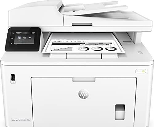 HP LaserJet Pro MFP M227fdw G3Q75A, Impresora Láser Multifunción, Imprime, Escanea, Copia y Fax, Wi-Fi, Ethernet, USB 2.0 de alta velocidad, NFC, HP Smart App, Pantalla Táctil en Color, Blanca