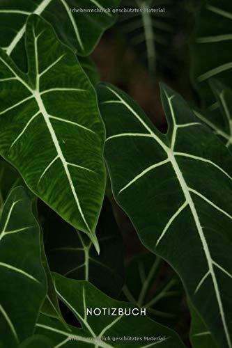 Pflanzen Notizbuch: Notizbuch Pflanzen / Pflanzenoptik für Pflanzenliebhaber oder Pflanzenliebhaberinnen | Eintragen von Notizen, Terminen, Ideen, ... | gepunktet | matt | Geschenk für Plant Lover