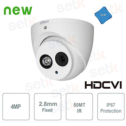 Dahua – Cámara HD CVI 4 MP Dome 2,8 mm IR 50 m Dahua –