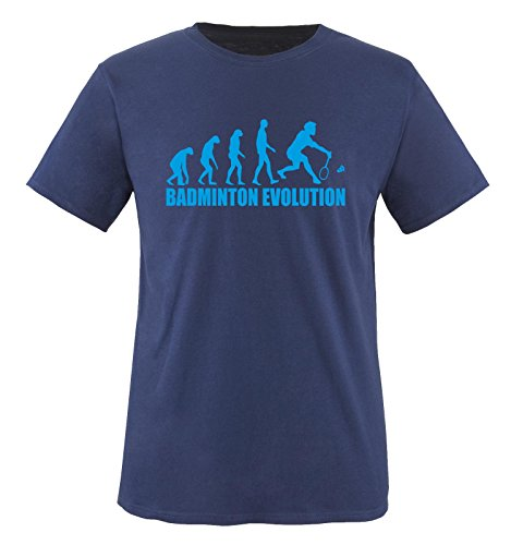 BADMINTON EVOLUTION - Kinder T-Shirt Navy/Blau 152-164