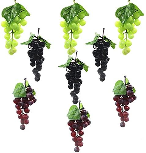 LATRAT Künstliche weintrauben Trauben kunstobst Obst Dekoration, Deko Kunststoff Weintrauben Wein Trauben Kunstobst Plastikobst künstliches Obst Gemüse Dekoration