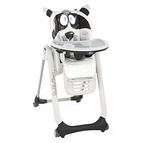 Chicco Polly 2 Star - Trona/hamaca divertida y compacta 4 ruedas, de 0 a 3 años, diseño oso panda