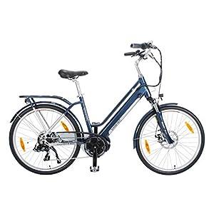 smartEC TrekX-MD Trekking Pedelec E-Bike 26 Zoll Elektrofahrrad, leistungsstarker Mittelmotor mit Samsung Li-Akku 14AH, 7 Gänge, max. Fahrunterstützung bis 25 km/h