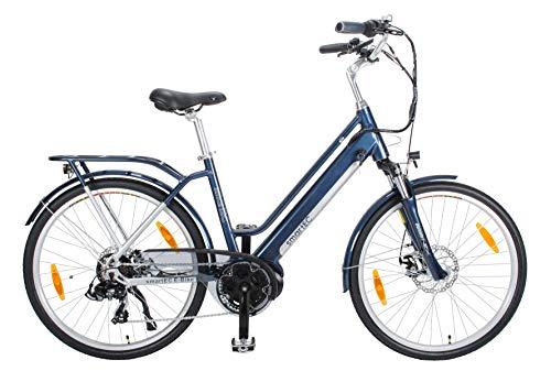 smartEC TrekX-MD Trekking Pedelec/E-Bike 26 Zoll Mittelmotor mit Samsung Li-Akku 14AH