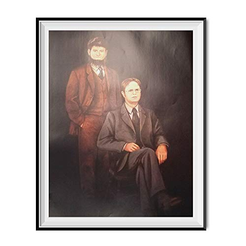 My Party Shirt Mose & Dwight Schrute Portrait Painting Poster The Office TV Show Dunder Mifflin