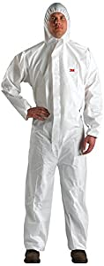 3M 4510 White XL Polyethylene/Polypropylene Disposable General Purpose & Work Coveralls - Fits 43 to 45 in Chest - Elastic Ankles, Elastic Wrists - XL451000076 [PRICE is per EACH]