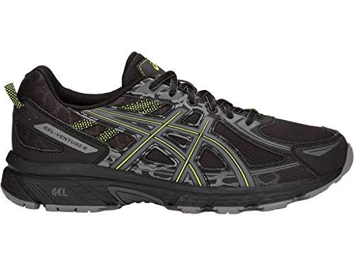 Asics - Gel-Venture 6 - Zapatillas deportivas de hombre para correr, Negro (Negro (Black/Neon Lime)), 45.5 EU