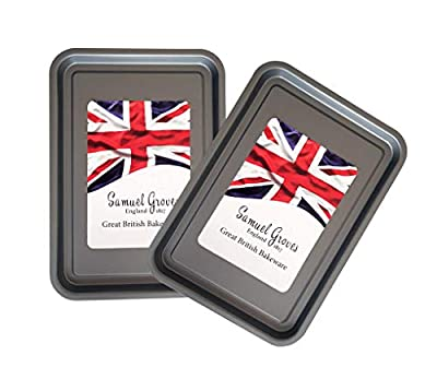 2x Samuel Groves – 35cm Baking Trays, Non Stick by Chabrias LTD from Samuel Groves