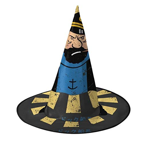 Ojipasd Capitn Haddock Retro Japons Tintn Bruja Sombrero Halloween Unisex Disfraz para da festivo Halloween Navidad Carnaval Fiesta