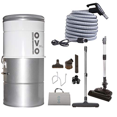 OVO Large and Powerful Central Vacuum System, Hybrid Filtration (With...