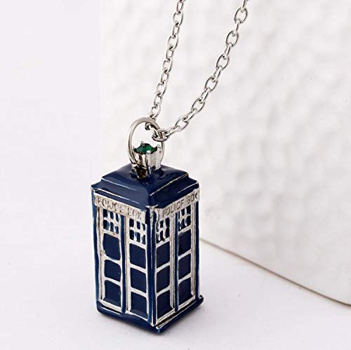Doctor Who Police Box Blaue Tardis Vintage Unisex Anhänger Halskette