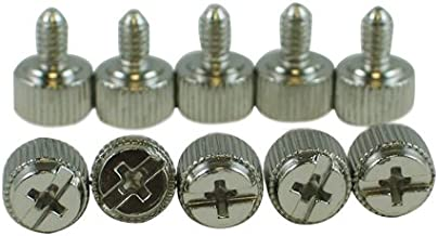 10 x Silver/Chrome Computer Case Thumbscrews (6-32 Thread) for Cover / Power Supply / PCI Slots / Hard Drives