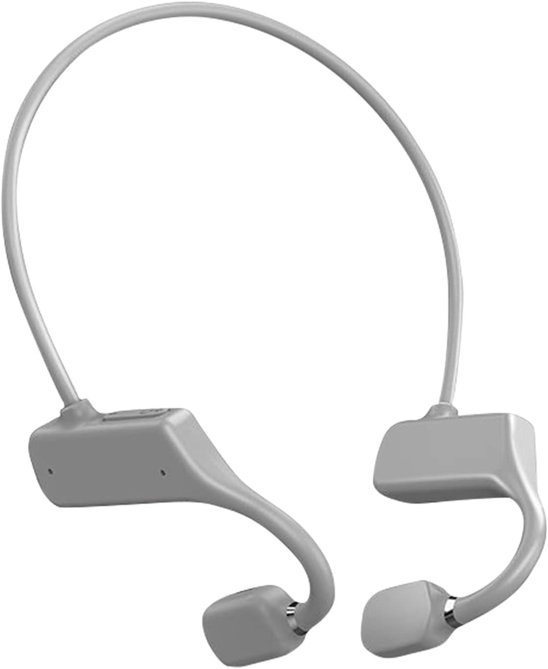 OCUhome Bone Conduction Headphones, Open Ear Bluetooth 5.1 Headphones, Ear Hook Bone Conduction Earphone IPX5 Waterproof Wireless Headphone for Sports Grey