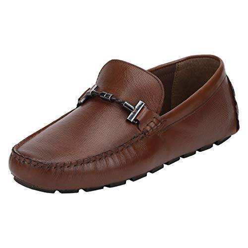 Red Tape Men's Slip-On Leather Driving Shoe Tan