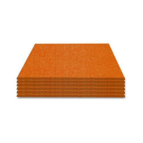 SIMON PIKE Filzuntersetzer Set Hugo 6 Stück, 2mm dick, Farbe: orange, aus echtem Natur Wollfilz