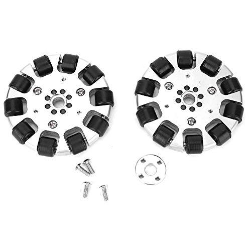 Omnidirektionales Radmetall mit angetriebener Walze, 2 Stück 3 Zoll Radmetall mit 10 Stück angetriebener Walze für Industrieroboterteile