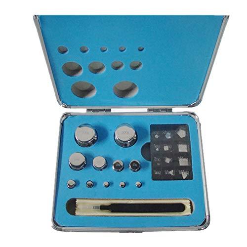 CGOLDENWALL - Juego de pesas de calibración para balanza digital (1 mg/100 g)