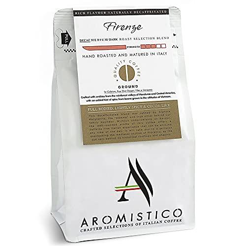 AROMISTICO | Rich Aroma Swiss Water DECAF Medium Roast | Premium Italian GROUND COFFEE | FIRENZE BLEND | French Press…