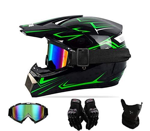 FANYI Jugend/Kinder Motocross Helm für Mountainbike ATV BMX Downhill Offroad,Integralhelm Motorradhelm,Enduro Helm,D.O.T Standard Motorrad Crosshelm (S)