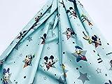 Disney-Stoff, MICKEY MOUSE Sterne & Frineds, wassergrün,