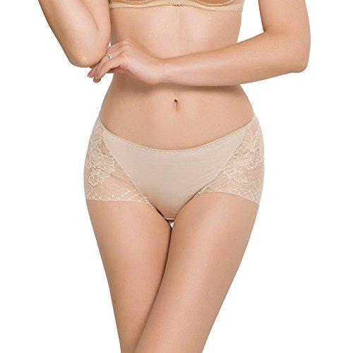 SilRiver Bragas de encaje de seda 100% para mujer, sexy y cómodo,...
