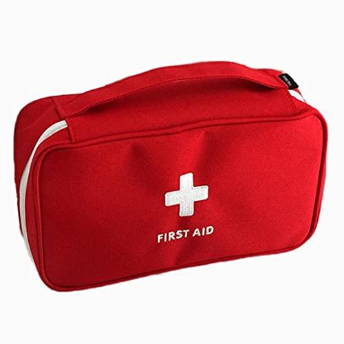Petrichori Kit de Premiers Secours Kit d'urgence pour Voiture d'alpinisme en Plein air Trousse de Premiers Soins pour Incendie Familial Kit médical Portable - Rouge 23X13X7.5Cm