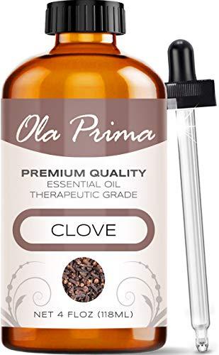 Ola Prima 4oz - Premium Quality Clove Essential Oil (4 Ounce Bottle) Therapeutic Grade Clove Oil