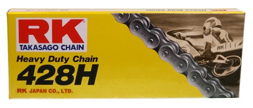 RK Racing Chain M428H-120 (428 Series) 120-Links Standard Non O-Ring Chain with Connecting Link
