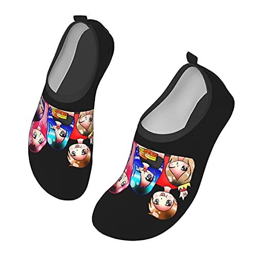Its-Funneh - Zapatos de agua para hombre y mujer al aire libre, calcetines descalzos para la playa, correr, esnórquel, playa, natación, piscina, surf, yoga, ejercicio., color Negro, talla 38 EU