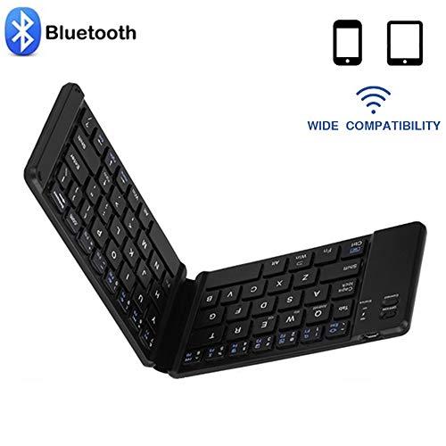 Klapptastatur, tragbare drahtlose Bluetooth-Tastatur für das Tablet-Telefon, Bluetooth 3.0-Tastatur für IOS, Android, Windows, eingebauter Akku für die Tastatur, Lange Arbeitszeit von bis zu 60 Tagen