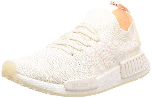 adidas NMD_R1 Stlt PK W, Zapatillas Mujer, Blanco (Cloud White/Cloud White/Clear Orange 0), 38 EU ⭐