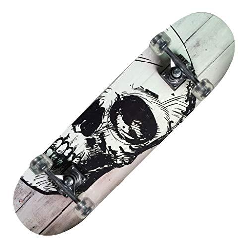 Skateboard TRIBE PRO WHITE SKULL Nextreme in Legno d'acero