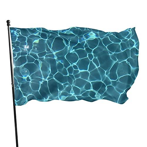 GOSMAO Bandera de jardín Piscina Agua Tumblr Textura Color Vivo y Resistente a la decoloración UV Bandera de Patio de Doble Costura Bandera de Temporada Banderas de Pared 150X90cm