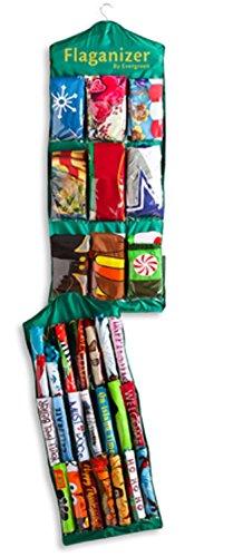 Evergreen 48' Hanging Garden Flag Storage Organizer
