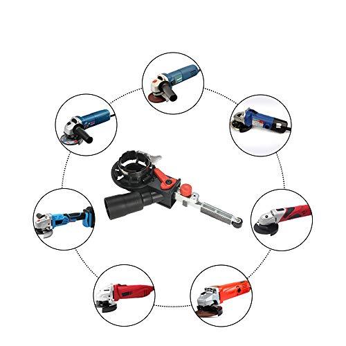 QWERTOUY Winkelschleifer Drehzahl regelbar Mini DIY Sander Schleifband Adapter Schleifmaschine Bandfile Gurtkopf Sander für 115mm 4.5' und 125mm 5'