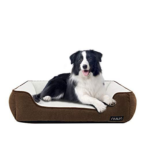 ANWA Hundebett, waschbar, für große und mittelgroße Hunde, rechteckig, 76 cm