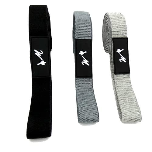 WoCo's - Juego de 3 bandas de resistencia extralargas para yoga, pilates, entrenamiento de músculos y piernas, ejercicios de espalda, entrenamiento de fuerza, entrenamiento en casa (lado oscuro)