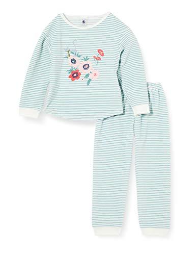 Petit Bateau Pyjama, gestreift, für Mädchen, aus Velours Gr. 3 Jahre,...