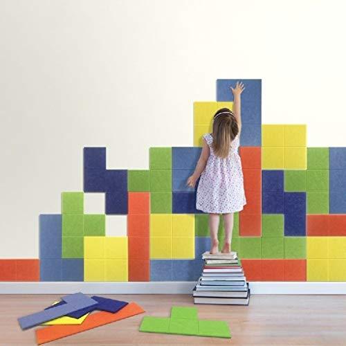 Etiqueta de la pared de fieltro Junta infantil, Habitación estereoscópica pared de fondo de pantalla Puzzle Puzzle creatividad fieltro de niños Educación Temprana de fieltro Junta (Color : #1)