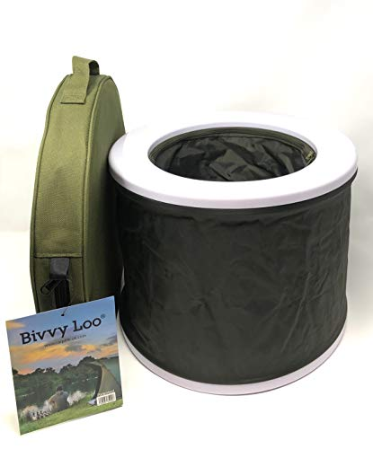 Bivvy Loo Tragbare Camping WC -Campingtoilette - Festival WC - Angeln Toilette - Outdoor Camping WC - Falten weg Wohnung - Unterstützt über 150kg - Camping Toilette - Portable Toilette