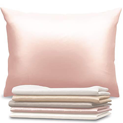 Dreamzie - Seidenkissenbezug 50 x 70 cm - 100% Maulbeerseide 19 Momme Doppelseitig Oeko-TEX® - Silk Pillowcase für Haar und Haut - Anti-Aging, Anti-Bettwanzen - Weiches Rosa