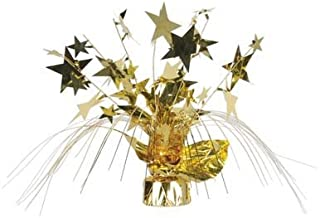 Beistle 57919-gd Star Gleam N Spray Centerpiece?–?パックof 12