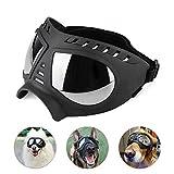 TOTTPED Dog Glasses,Anti-UV Dog Sunglasses-Pet Aviator Shooting Dog Goggles-Dog Gear Goggles-for Dog Travel Ski Windproof Dog Glasses Large Variety