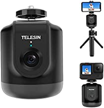Auto Tracking Tripod with Remote, TELESIN Smart Selfie Stick 360 Rotation Fast Face & Object Tracking Cameraman Robot Mount Holder for Phone and Camera Video Vlog Live Streaming Meeting