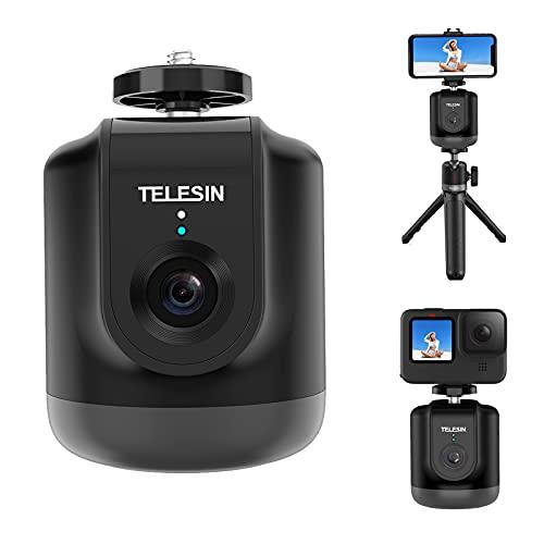 TELESIN Smart Shooting Gimbal Selfie 360 ° Rotazione Auto Face Follow Object Tracking Per GoPro Hero 9 8 7 6 5 Osmo Action Smartphone Camera Vlog Live Meeting con telecomando