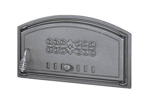 Backofentür Ofentür Pizzaofentür Holzbackofentür Steinbackofentür aus Gusseisen | Außenmaße: 490x280 mm | Öffnungsrichtung: rechts